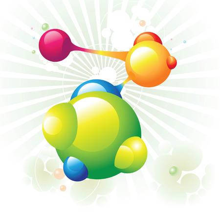 molecule green Illustration