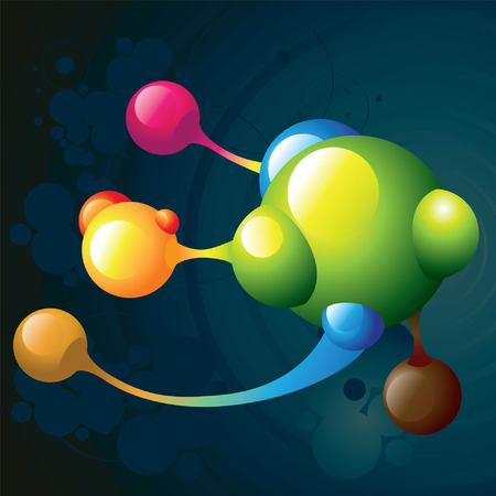 dna background: molecule dark Illustration