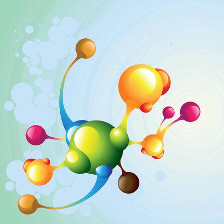 molecule dark2 Illustration