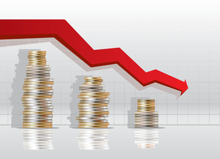 risico analyse: financiering stat Stock Illustratie