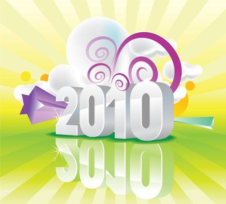 almanak: 2010 kleur Kalender Stock Illustratie