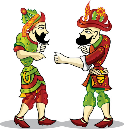 karagoz and hacivat Stock Vector - 6181920