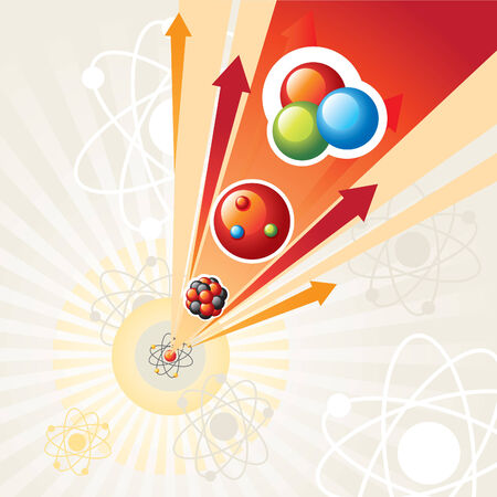 nuclear physics: nuclear reaction Illustration