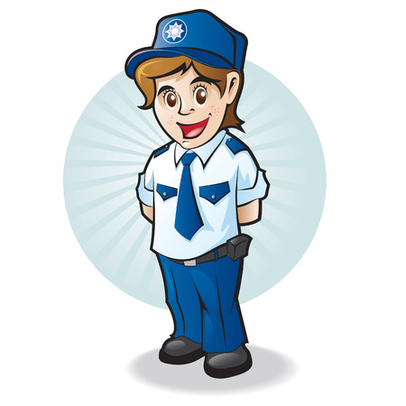 security uniform: Ni�o de polic�a