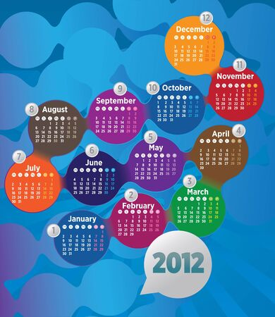 2012 circle the calendar Stock Vector - 11485448