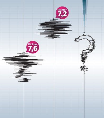 earthquakes and seismic instruments that measure earthquakes Vector