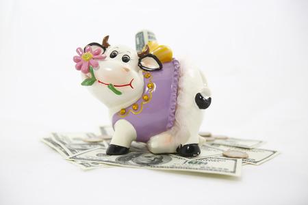 Cow coin bench