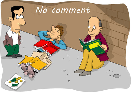 comment: Comic cartoon no comment
