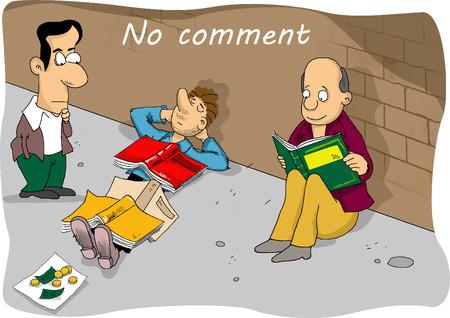 homelessness: Comic fumetto no comment
