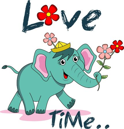 walk of life: Cute cartoon elephant