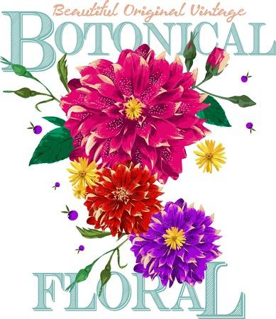 original: Beautiful Original Vintage Botanical
