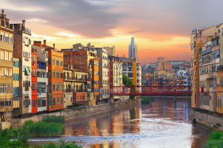 historical jewish quarter in Girona,  Barcelona, Spain, Catalonia Foto de archivo