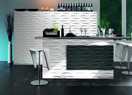 3d rendering of contemporary monochrome minimalistic interior photo