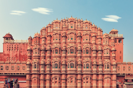 affect: Facade of Hawa Mahal palace in Jaipur, Rajasthan. Creative fileter affect Editorial