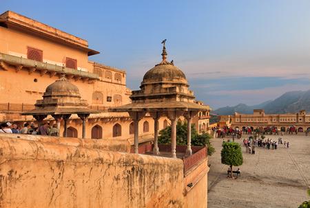 maharaja: View of Amber fort courtyard, Jaipur, India, Rajasthan
