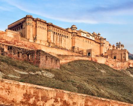 jaipur: View of Amber fort from below, Jaipur, India, Rajasthan
