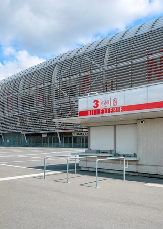 ticket office: Lille, France - August 14, 2015: view of new Pierre Mauroy football stadium  ticket office ready for UEFA EURO 2016 in Lille, France Editorial