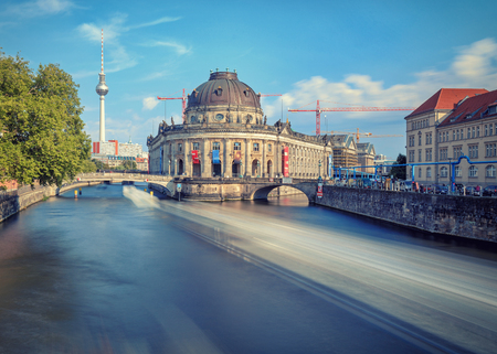 bode: The Bode Museum over the river. Long exposure shot