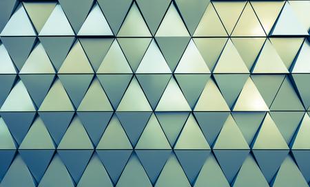 vue en gros plan abstrait de triangles modernes aluminium ventilées sur la façade Banque d'images