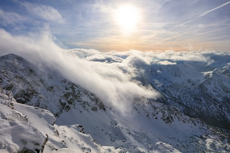 Panorama from Kasprowy Wierch mountain in Hight Tatras, Poland