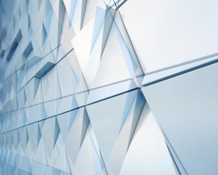 Abstracte illustratie van de moderne architectuur. dubbele blootstelling