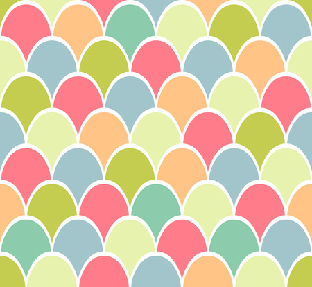 symbolic: Seamless pattern of symbolic colorful easter eggs