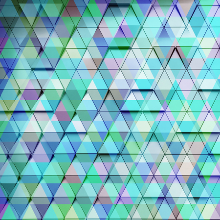 exposure: Abstract architectural illustration. Blue triangles double exposure