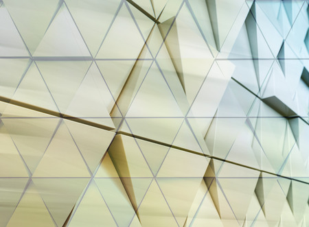 triangle objects: Abstract architectural illustration. triangles double exposure facade