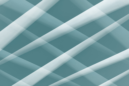 composite material: Abstract  architectural pattern. White crossed stripes on blue background