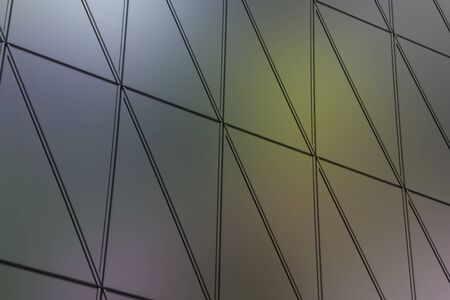 ventilated: Abstract close-up view of modern aluminum ventilated facade of triangles 3D illustration
