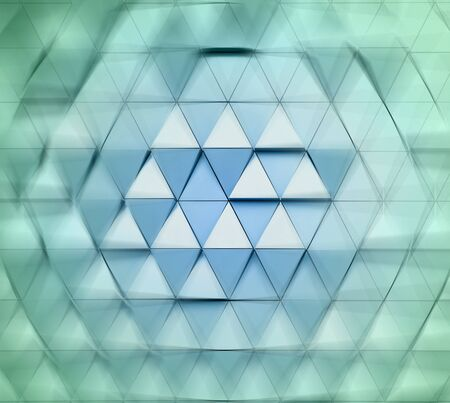 ventilated: Abstract close-up view of modern aluminum ventilated triangles on facade 3D illustration