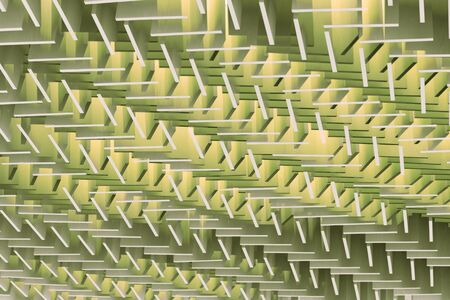 composite material: 3D illustration. Abstract geometrical architectural pattern of wooden planks Stock Photo