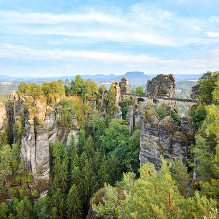 saxon: National Saxon Switzerland park famouse Bastei bridge