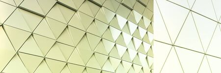 ventilated: Abstract photo of modern aluminum ventilated facade of triangles