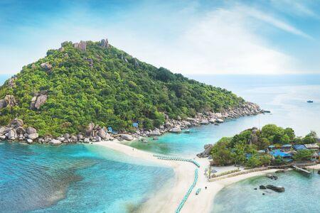 Beaches of Thailand. Empty morning Koh Nang Yuan island beach Stock Photo