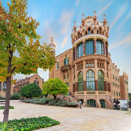 Hospital de la Santa Creu i Sant Pau complex, the worlds largest Art Nouveau Site in Barcelona, Spain