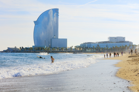 View of Barcelonetta beach