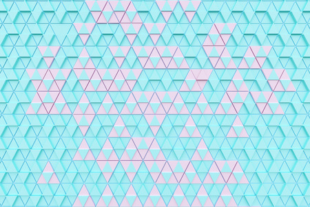 Abstract background of polygonal shapes Stock Photo