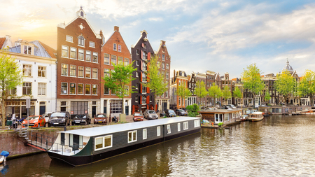 Old town of Amsterdam Stock Photo
