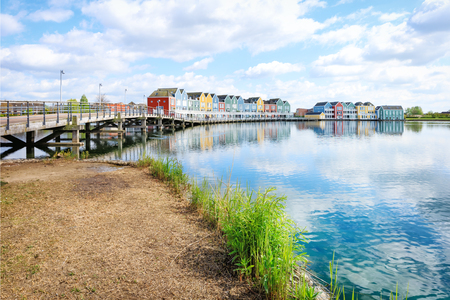 Houten, Netherlands - Traditional dutch houses on canal