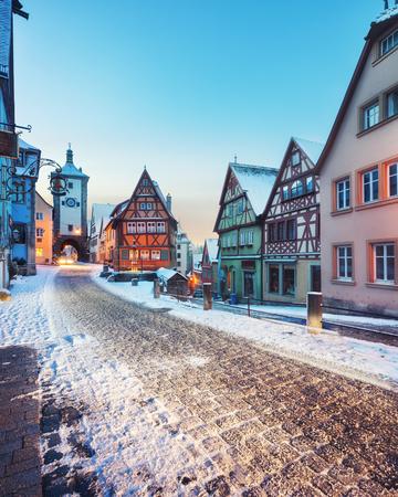 Medieval old Rothenburg ob der Tauber