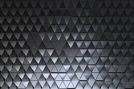 Abstract dark background of polygonal triagles shape Stock Photo
