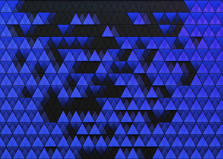 Abstract dark background of polygonal triangles shape Stock Photo