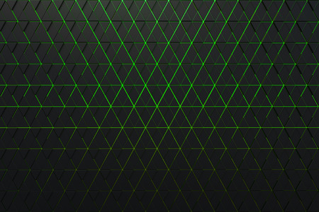 Abstract background of polygonal shape with green lines