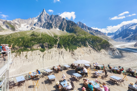 Traveling to beautiful French Alps in summer Stock Photo