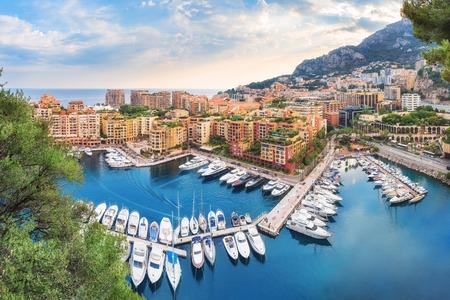 Luxury Monaco-Ville harbour of Monaco, Cote dAzur