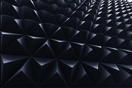 Abstract dark background of polygonal triangle shape