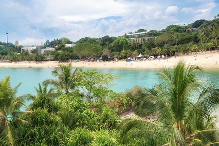 entertainment of Singapore. sunny beach with white sand