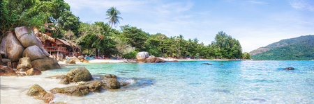 Panorama of asian paradise beach in Thailand