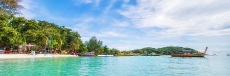 Panorama of asian paradise beach in Thailand Stock Photo - 118773024